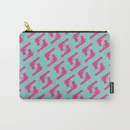 Mint and pink guns Carry-All Pouch