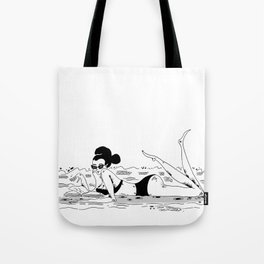 Reading at the beach Tote Bag