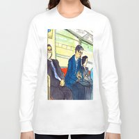 subway Long Sleeve T-shirts featuring Tokyo subway by adi tsahor