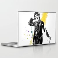 charlie chaplin Laptop & iPad Skins featuring charlie chaplin 05 by manish mansinh