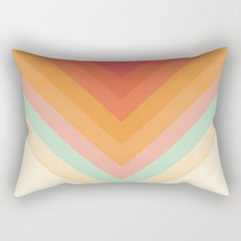 Rainbow Chevrons Rectangular Pillow