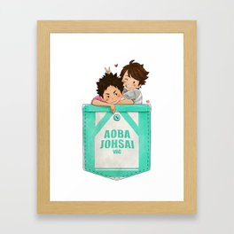 Pocket HQ - iwaoi Framed Art Print