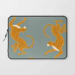 Leopard Race - blue Laptop Sleeve