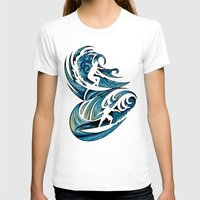 surfing T-shirts featuring Surfing by A Laidig