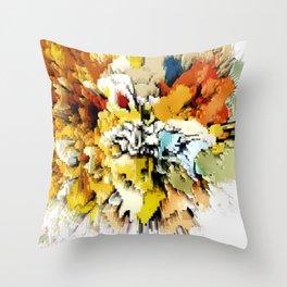 Color Blocks Explosion Throw Pillow