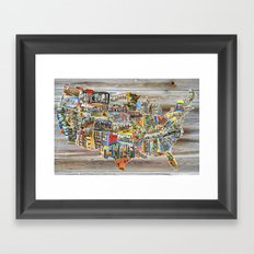 Greetings From Framed Art Print