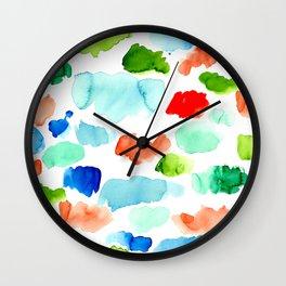 Watercolor Swatch Pattern Wall Clock