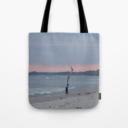 Loderup beach at sunset  Tote Bag