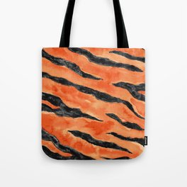 Tiger Stripes (Orange/Black) Tote Bag