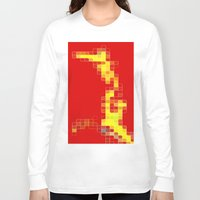 pixel Long Sleeve T-shirts featuring Pixel  by Lior Blum