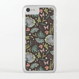 Cacti by Night Clear iPhone Case