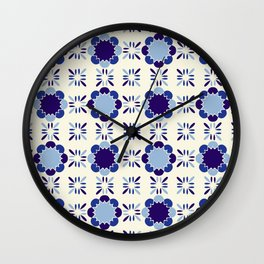 Portuense Tile Wall Clock