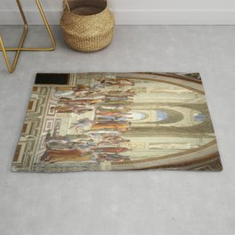 Raphael's The School of Athens Rug