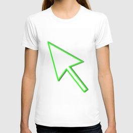 Cursor Arrow Mouse Green Line T-shirt