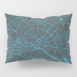 Berlin Map blue Pillow Sham