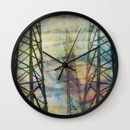 + pylons Wall Clock