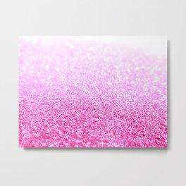 Pink Lavender Sparkle Glitter Metal Print