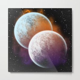 Together forever - Planets Metal Print