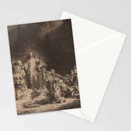 Rembrandt - Christ Preaching (The Hundred Guilder Print) (1649) Stationery Cards