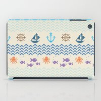 knitting iPad Cases featuring Sea Knitting by Ornaart