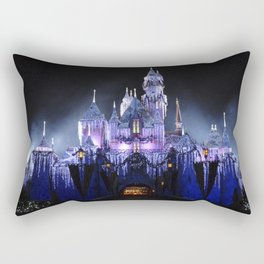 Sleeping Beauty's Winter Castle (Night-time, no 1) Rectangular Pillow