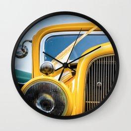 Yellow Truck Wall Clock