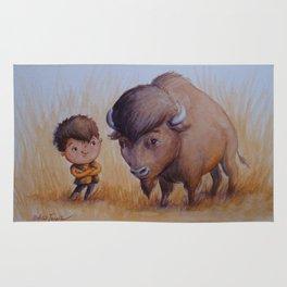 """Bold Buffalo Brothers"" Rug"