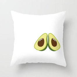 Avocado The Study of the Deliciousness Throw Pillow