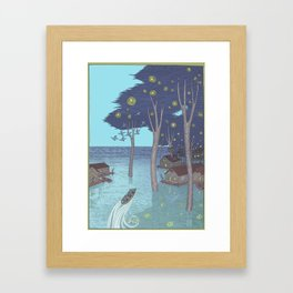port of tomorrow Framed Art Print