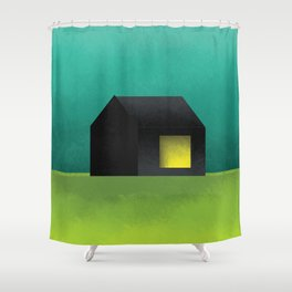 Simple Housing | House in a lowland Shower Curtain