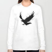 raven Long Sleeve T-shirts featuring Raven by Nicklas Gustafsson