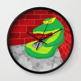 Upset Crocodile Wall Clock