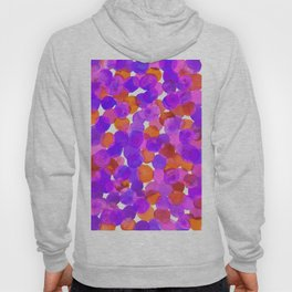Watercolor Circles - Purple Red Orange Palette Hoody