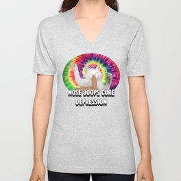 Nose Boops Cure Depression Unisex V-Neck