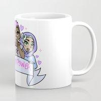 girl power Mugs featuring Girl Power! by kawaii-kekki