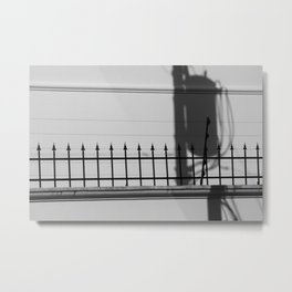 Street Scene Silhouette (El Salvador) Metal Print