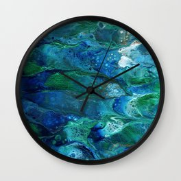 Underwater Flow Acrylic Abstract Painting Wall Clock