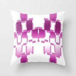 pink purple white cactus abstract geometrical art Throw Pillow