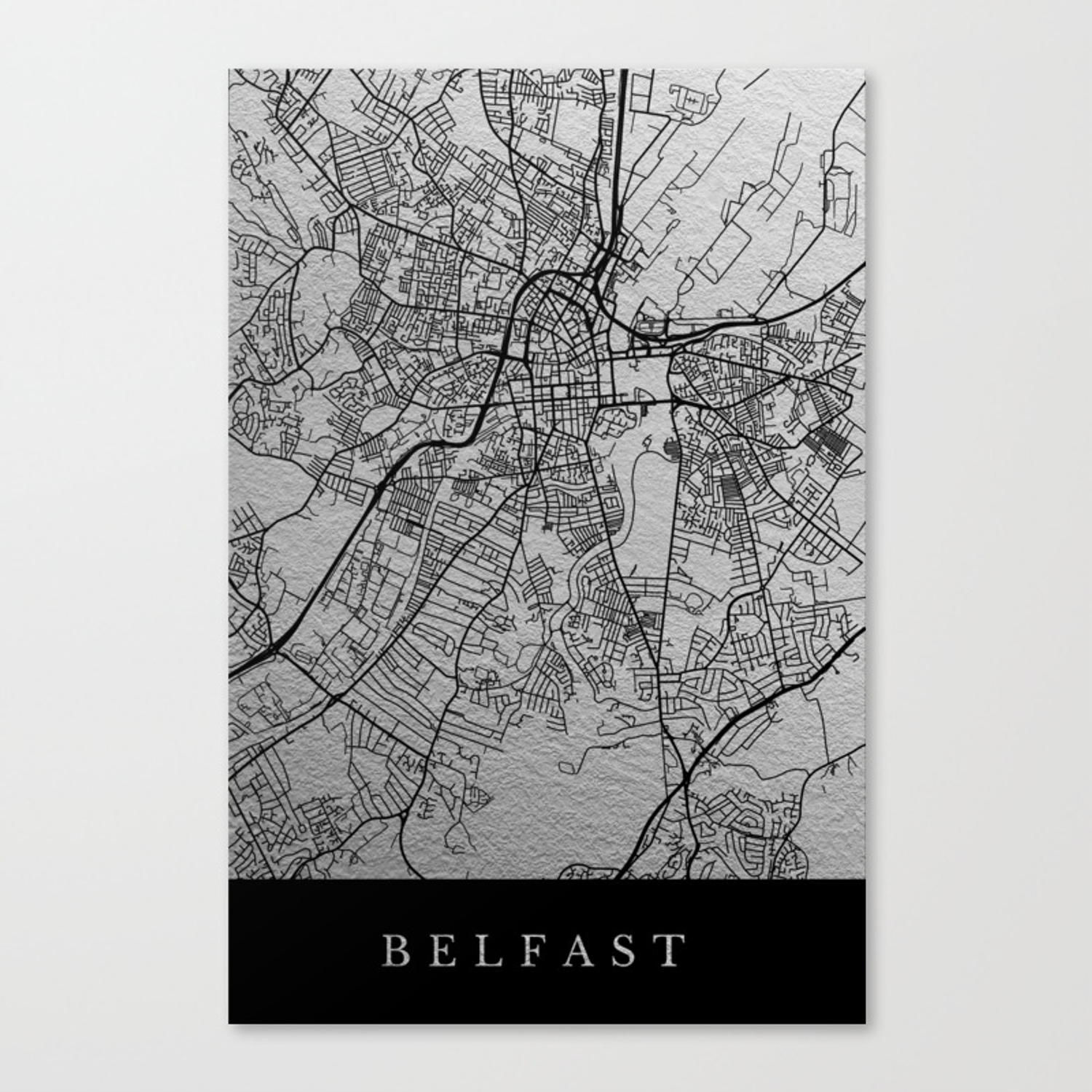 Belfast map canvas print by dairinne society6