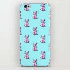 Crazy Cat (Pink/Blue)  iPhone & iPod Skin