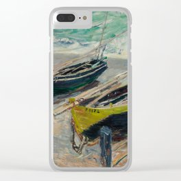 Three Fishing Boats Clear iPhone Case
