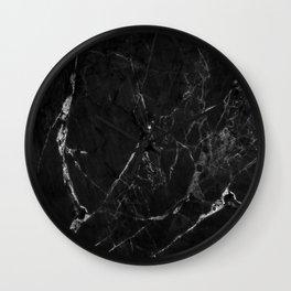 Black Marble Print II Wall Clock