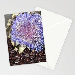 Fresh Coffee Beans & Blue Artichoke Stationery Cards