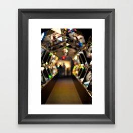 Down The Hall Framed Art Print