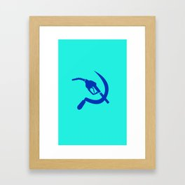 Gas Nozzle and Sickle Framed Art Print