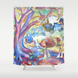 Technicolor Bella Shower Curtain