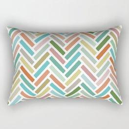 pastel herringbone Rectangular Pillow