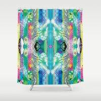 kaleidoscope Shower Curtains featuring kaleidoscope by Xenia Pirovskikh