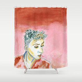 Reds around a Person #GenderNeutral #Watercolor Shower Curtain