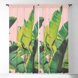 Banana Leaves III (Pink) Blackout Curtain